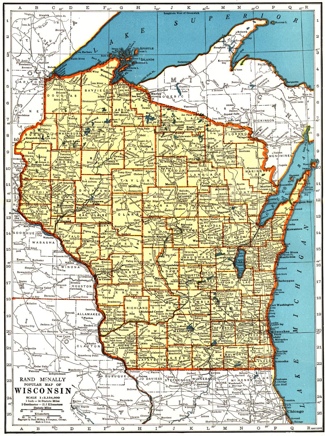 Map Of Northern Illinois And Southern Wisconsin Map Map Of The - Chicago map by county